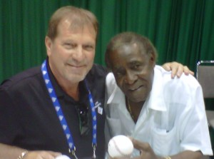 Greg Pryor and Minnie Minoso at the 2012 All-Star Fan Fest.