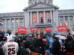 A banner day at San Francisco City Hall awaited the World Series champion Giants.