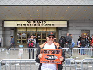 Basebalreflection.com's Charles Fracchia basks in the glow of the Giants' championship.